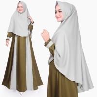 Setelan Muslim Original | Marwah Syari | Gamis Khimar | Tazkia Hijab