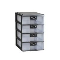 Lion Star PR 34 Pressa Container A4 Laci Plastik Mini Susun 4 Lionstar