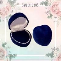 Red Velvet Heart Ring Box | Kotak Cincin Bludru Hati Merah