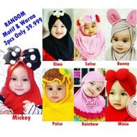 RANDOM Jilbab Anak Baby Campur Motif & Warna 3pcs Only 39.999 Hijab An