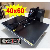 MESIN PRESS KAOS 40x60 Alat Heatpress Baju Sablon Digital Polyflex
