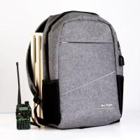 Buy 1 Get 1 ORIGINAL Tas Ransel Anti Air + USB Charger Earphone Hole