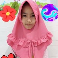 Hijab Jilbab anak Rempel Pita Tali