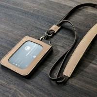 Leather ID Card Holder - Badge Holder - id card kulit dengan magnet