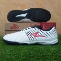 Specs Barricada Lea 19 IN (Sepatu Futsal) - White/Emperor Red