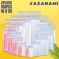 PLASTIK ZIP LOCK 16 X 25 PLASTIK KLIP ZIPLOCK CLIP 16 X 25 100 PCS