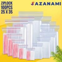 PLASTIK ZIP LOCK 25 X 35 PLASTIK KLIP ZIPLOCK CLIP 25 X 35 100 PCS