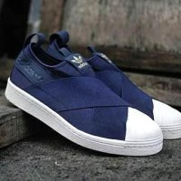PROMO Adidas Superstar Slip On Navy Premium Original Sneakers