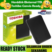 HARDDISK EXTERNAL TOSHIBA CANVIO READY 1TB USB 3.0 Hdd Hd Eksternal
