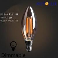 Lampu LED Edison Filamen C35 bulb candle 4W E14 Bisa dimmer- AUTOLUX