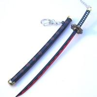 Gantungan kunci pedang 22 cm anime one piece roronoa zoro shusui