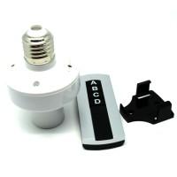 Socket Bohlam E27 220V dengan Remot Kontrol - GNZL168 - White