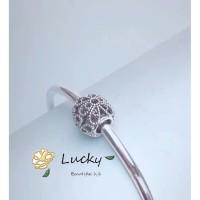 Pandora rose gelang manik-manik berongga 791282