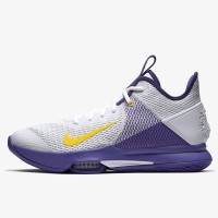 Sepatu Basket Nike Lebron Witness 4 EP White Purple Original CD0188-10