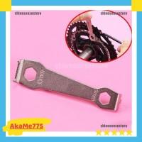 Tool Kunci Penahan Buka Pasang Baut Mur Chainring Crank Gear Sepeda