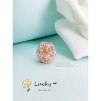 Pandora baru wanita rose gold berongga cinta longgar beads 780964