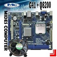 Motherboard Intel LGA 775 G41 DDR3 + Q8200 + FAN MTECH