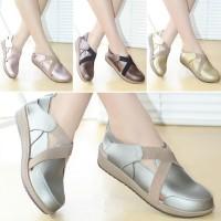 Sepatu Wanita Sneakers Kets Kulit Mulan 2311