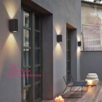 L018 /2a lampu dinding taman piral minimalis fiting e27 outdoor