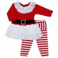 Setelan santa tutu dress anak import kostum natal Christmas