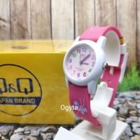 Q&Q QQ QnQ Analog Jam Tangan Wanita Anak Karet Pink VR99J002Y Original