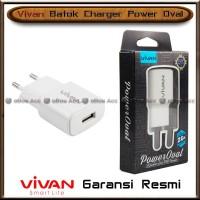 Batok Charger Vivan Power Oval 2A Adaptor Adapter Kepala USB Original