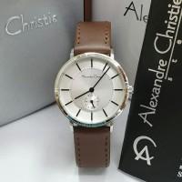 Jam Tangan Wanita Alexander Cristie AC8493 Silver Brown Original New