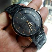 new !! jam tangan pria Alexander Cristie ac8546 black rose gold
