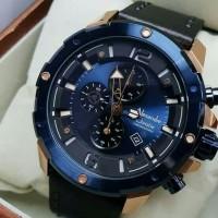 jam tangan pria Alexander Cristie Original AC 6410 Blur rose Gold