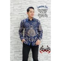 Batik Solo Kemeja Batik Panjang Kamandanu Blue Anjani Batiksoloamanah