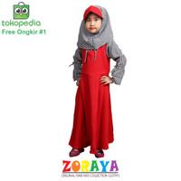 Rafiqah Gamis Syari Anak Perempuan 4 5 6 Tahun Baju Muslim Dress Hijab