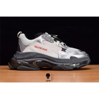 Sepatu Balenciaga Triple S 3.0 Silver Black Premium Original