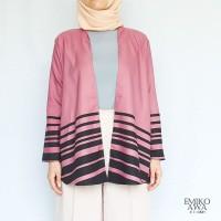 Outer PinkGaris - Emikoawa / Cardigan / Souvenir / Berkualitas