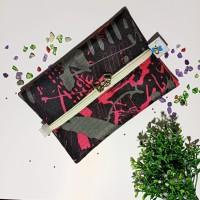Pink Hitam Cover Tissue Travel Pink Tempat Tisu Gift Souvenir