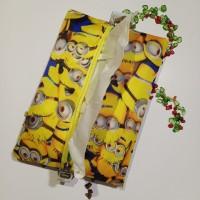 Minion Kuning Cover Tissue Travel Minion Tempat Tisu Gift Souvenir