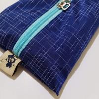 Garis Biru Navy Cover Tissue Travel Garis Tempat Tisu Gift Souvenir