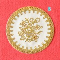 best seller Tatakan Gelas PVC floral Diameter 10cm⠀⠀⠀⠀⠀