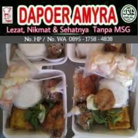 Paket Nasi Lengkap Ayam Penyet, Perkedel, Tumis Buncis Tempe