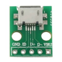 Micro USB to Dip 2.54mm 5 pin female adapter connector PCB converter