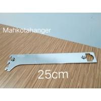 Bracket Pipa Multifungsi H25 | Daun breket pipa kotak /pipa bulat 25cm
