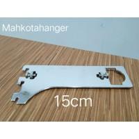 Bracket Pipa Multifungsi H15 | Daun breket pipa kotak /pipa bulat 15cm