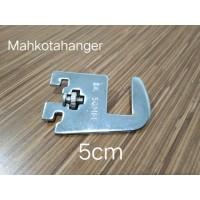 Bracket Pipa Kotak H5 Besi | Daun breket penyangga besi pipa kotak 5cm