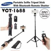 Tripod Yunteng VCT 1688 Tongsis Bluetooth VCT-1688 Selfie Stick Tripod