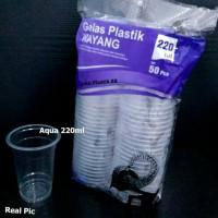 Gelas Plastik wayang Aqua 220ml - Gelas kopi teh - TEBAL
