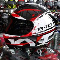 helm full Face KYT R10#2 White /Black /fluo