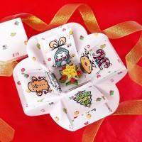 Custom Kotak Kado Natal Hadiah Christmas Gift Unik Explosion Box