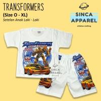 Baju Setelan Anak Cowok Laki Laki [Set Kaos Celana] - Transformers