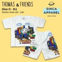 Baju Setelan Anak Cowok Laki Laki [Set Kaos Celana] Thomas and Friends
