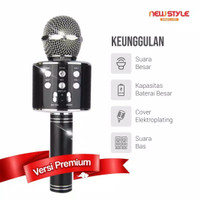 MIC WS858 Microphone Karaoke Bluetooth Mic Speaker Mikrofon Wireless