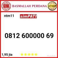 Nomor Cantik Simpati seri Panca 00000 0812 600000 69 ntm11